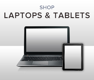 Picture of laptop and tablet. Click to shop for laptops and tablets.